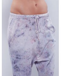 Free People | Purple Hero Crane Womens Washed Lounge Jogger | Lyst