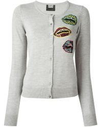 Markus Lupfer | Gray Tribal Sequin Lips 'April' Cardigan | Lyst