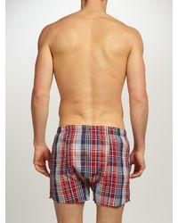 GANT   Multicolor Check Woven Cotton Boxers for Men   Lyst