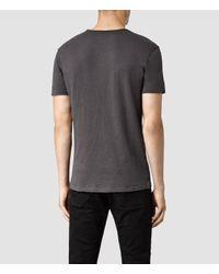 AllSaints - Black Figure Crew T-shirt for Men - Lyst