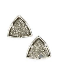 Kendra Scott | Metallic 'parker' Drusy Stud Earrings | Lyst