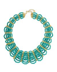 Nakamol - Blue Turquoise-hued Beaded Statement Necklace - Lyst
