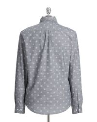 Original Penguin   Blue Slim-fit Chambray Shirt for Men   Lyst