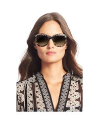 Diane von Furstenberg - Black Haley Studded Oversized Sunglasses - Lyst