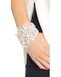 Vera Wang Collection | White Imitation Pearl Cuff Bracelet - Ivory | Lyst