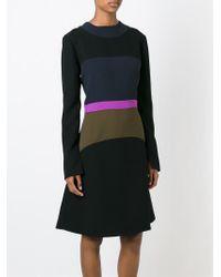 Marni - Black Colour Block A-line Dress - Lyst