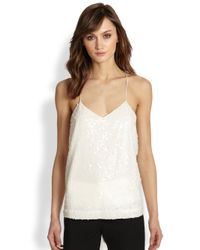 Tibi | White Ava Sequined Camisole Top | Lyst