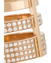 Repossi | Metallic Berbère 18-karat Rose Gold Diamond Ring | Lyst