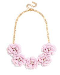 BaubleBar - Pink Jumbo Bloom Bib - Lyst