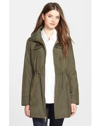 MICHAEL Michael Kors | Green Long Anorak | Lyst