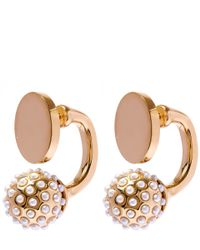 Chloé - Metallic Gold And Pearl Darcey Earrings - Lyst