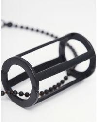 ASOS | Black Bracelet With Geometric Pendant for Men | Lyst