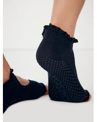 Free People | Black Toesox Womens Lace Namaste Yoga Sock | Lyst