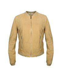 FORZIERI - Women's Light Brown Suede Zip Jacket - Lyst