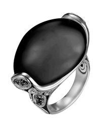 John Hardy | Kali Black Chalcedony/Sapphire Ring | Lyst