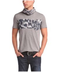 BOSS Orange | Gray 'teofilo' | Cotton Graphic T-shirt for Men | Lyst
