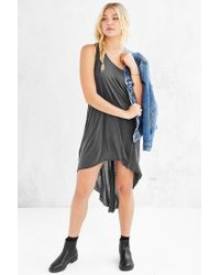 Truly Madly Deeply - Gray Open-seam High/low Dress - Lyst