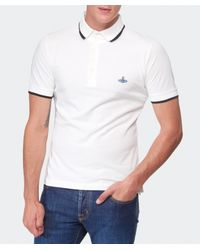 Vivienne Westwood - White Pique Polo Shirt for Men - Lyst