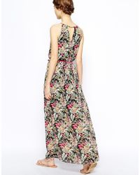 Oasis - Multicolor Tropical Chain Neck Maxi Dress - Lyst