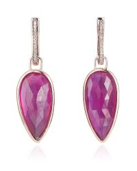 Monica Vinader | Pink Riva Precious Ruby Detachable Drop Earrings | Lyst