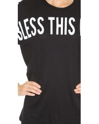 Zoe Karssen - Bless This Mess Tee - Pirate Black - Lyst