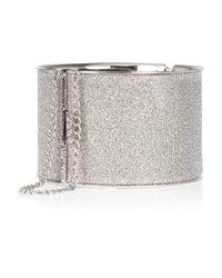 River Island | Metallic Silver Tone Glittery Cuff Bracelet | Lyst
