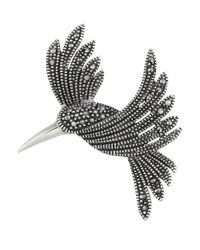 Lord & Taylor | Metallic Marcasite And Sterling Silver Hummingbird Brooch | Lyst