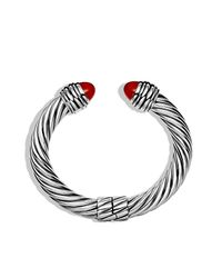 David Yurman - Red Cable Classics Bracelet, 10mm - Lyst