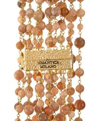 Rosantica By Michela Panero - Brown Pegaso Rose-Quartz Bead Necklace - Lyst