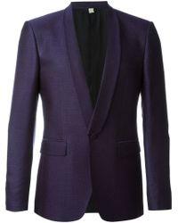 Burberry - Purple Patterned Blazer for Men - Lyst