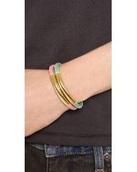 Marc By Marc Jacobs - Green Slider Tube Bracelet - Lyst