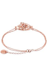 Alex Monroe | Pink Rose Gold-plated Oval Wild Strawberry Cluster Cameo Bracelet | Lyst
