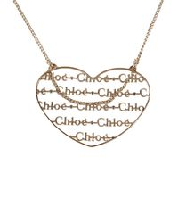Chloé | Metallic Necklace | Lyst