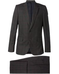 Paul Smith - Gray Checked Suit for Men - Lyst