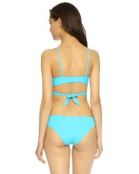 L*Space | Blue Chloe Wrap Bikini Top | Lyst