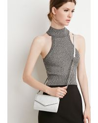 Forever 21 | Metallic Faux Leather Envelope Crossbody | Lyst