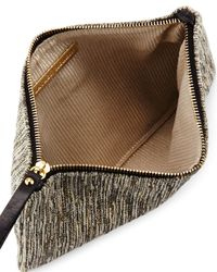 Lauren Merkin - Gray Ellie Metallic-tweed Pouch - Lyst
