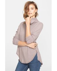 Free People - Natural 'kristina' Drippy Thermal Top - Lyst