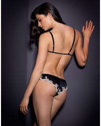Agent Provocateur - Molly Soft Cup Bra Black/pink - Lyst