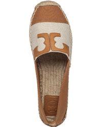 Tory Burch - Brown Veranda Leather Espadrilles - Lyst