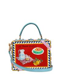 Dolce & Gabbana | Blue Dolce Bag Da Rosa Hand-painted Bag | Lyst