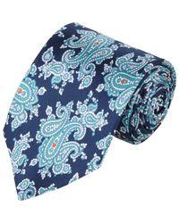 Barneys New York - Blue Paisley Silk Neck Tie for Men - Lyst