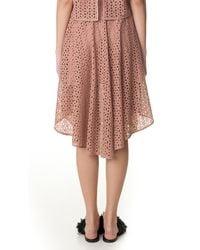 Tibi | Pink Hanae Eyelet Skirt | Lyst