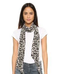 Marc By Marc Jacobs | Multicolor Painted Leopard Skinny Silk Scarf - Black Multi | Lyst