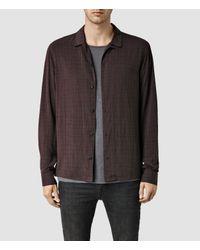 AllSaints - Purple Courthauld Shirt for Men - Lyst