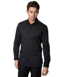 7 Diamonds | Black Regular Fit Peace Train Micro Dot Sportshirt for Men | Lyst