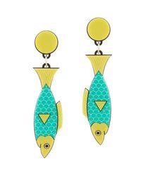 Yazbukey | Green Sardine Earring | Lyst