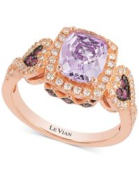 Le Vian | Metallic Amethyst (1-5/8 Ct. T.w.) And Diamond (2/5 Ct. T.w.) Heart-detail Ring In 14k Rose Gold | Lyst