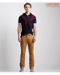 Aéropostale | Brown Uniform Slim Straight Flat-front Pants for Men | Lyst