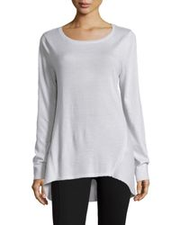 Neiman Marcus | Natural Jewel-neck Cashmere Pullover | Lyst